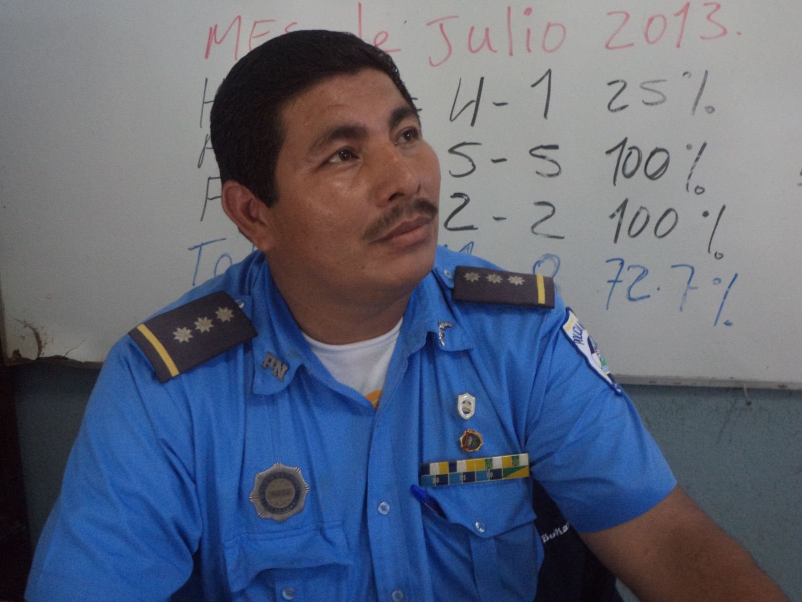 Subcomisionado Luis Duarte, jefe de la dirección de tránsito.