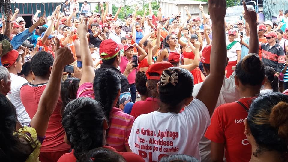 Una de las concentraciones del Partido Liberal Constitucionalista en Siuna