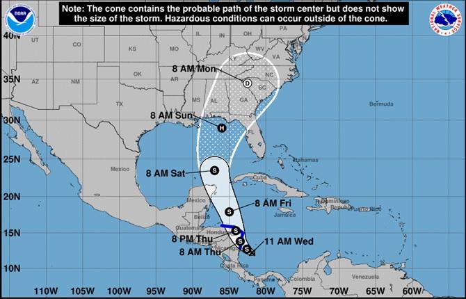 Nicaragua en Alerta Amarilla por depresión tropical