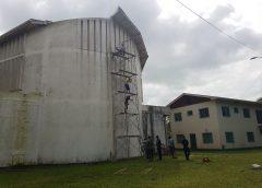 Ráfagas de vientos desprenden parte del techo de iglesia católica de Bilwi