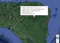 Tres sismos se han registrado en Caribe Norte en menos de 24 horas