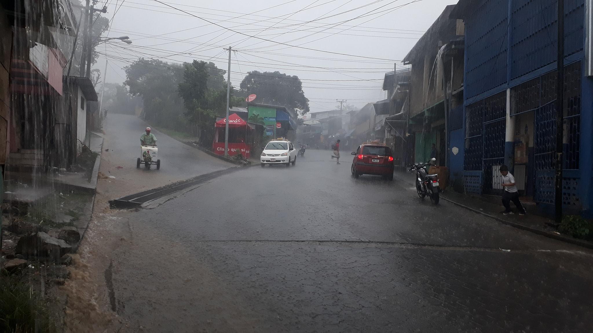 En Siuna se han registrado constantes lluvias durante las últimas horas.