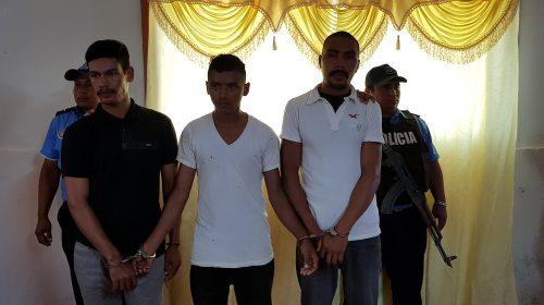 Francisco Ezequiel Díaz Tenorio, Elías Arguello Sotelo y Moisés Alexander Molina Acuña