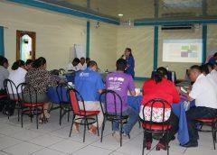 Programa Mundial de Alimentos en capacitación con miembros de COMUPRED de la Región del Caribe Norte.