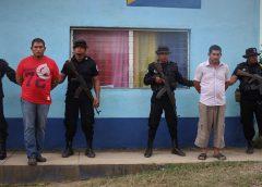 Policía Nacional presenta a sujetos vinculados de homicidio en el Municipio de Mulukukú.